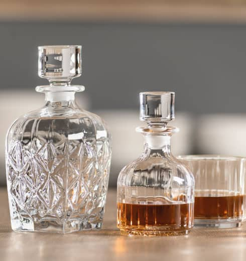 Caraffe e bottiglie in cristallo Brandani