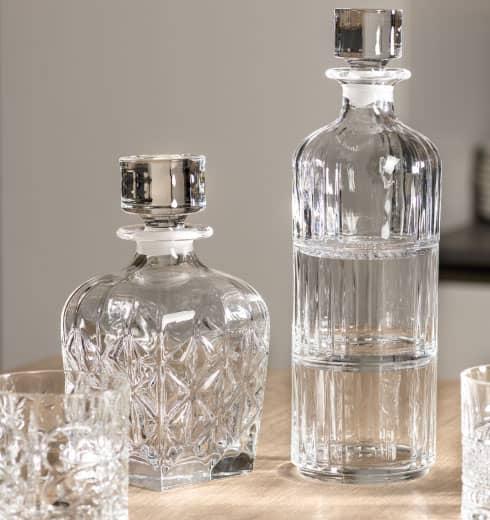 Caraffe e bottiglie in cristallo