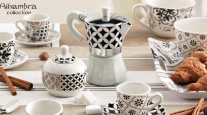 Tazzine e Caffettiera Alhambra Collection Brandani