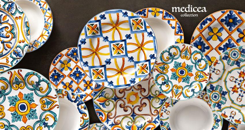 Piatti Porcellana New Bone China Medicea