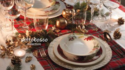 Servizio Piatti Natale e tavola Natalizia Brandani Sottobosco
