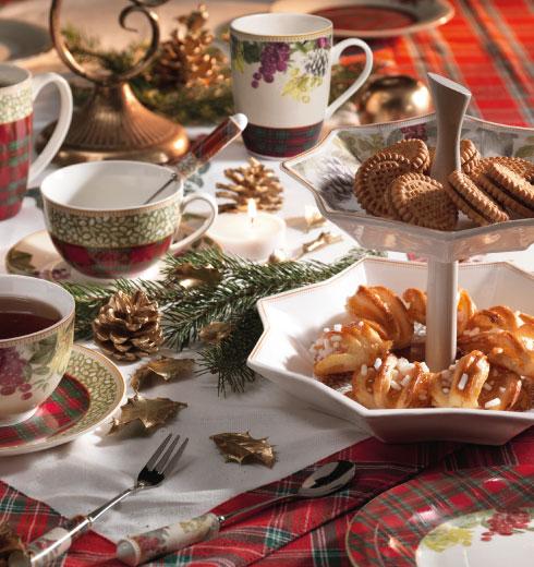 Vassoi natalizi, forchettine e cucchiaini Natale Sottobosco Brandani