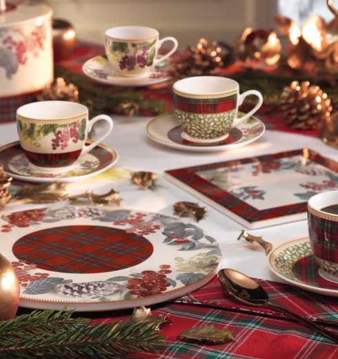 Tazzine caffè natalizie Sottobosco Brandani