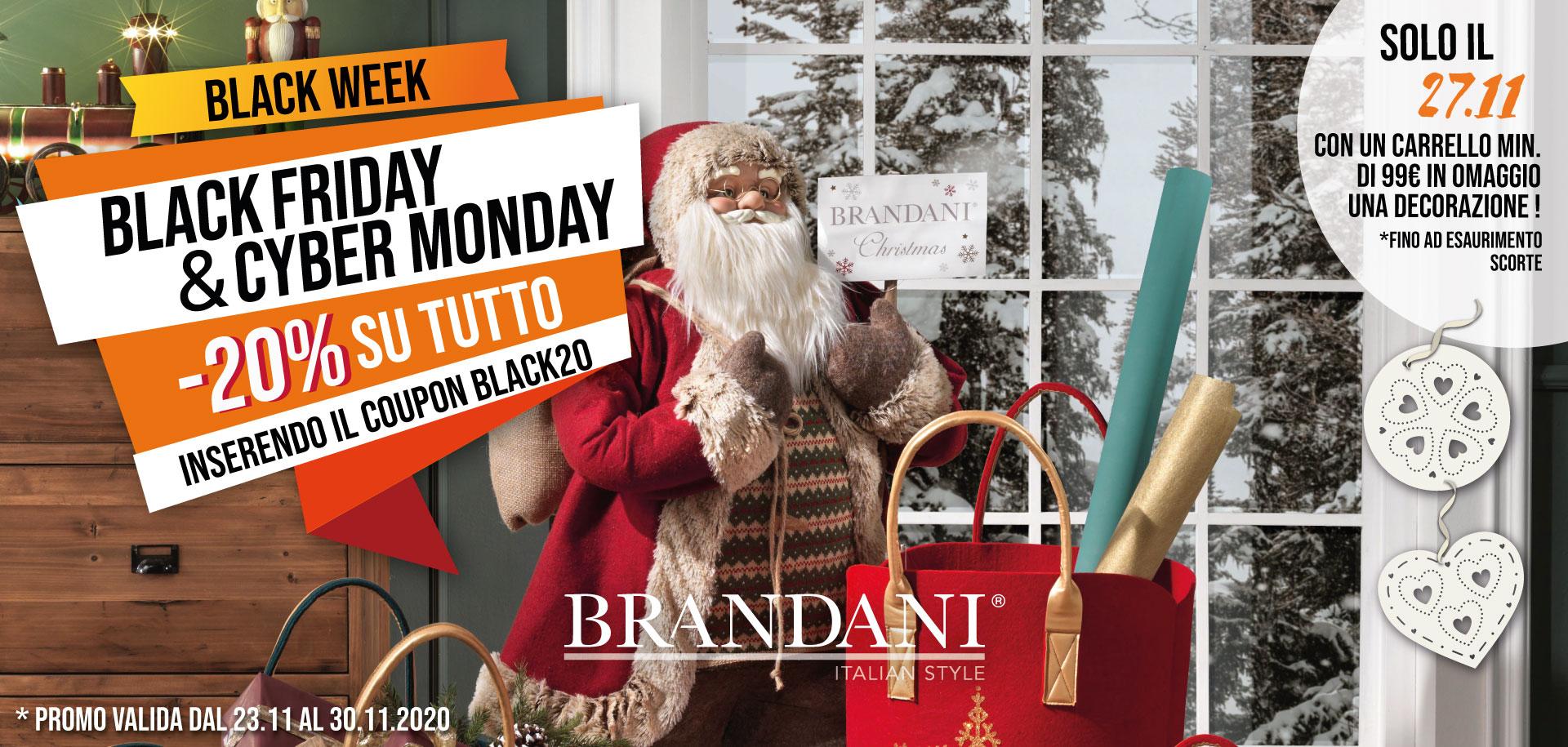 Black Friday e Cyber Monday di Brandani