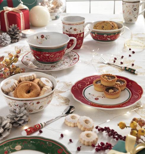 Tazze da tè e da caffè natalizie Tempo di Festa Brandani