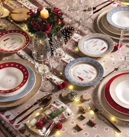 Servizio piatti di Natale di Brandani – Fiocco di Neve