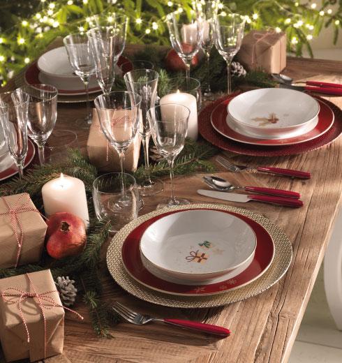 Set Piatti decorati Natale Alleluia di Brandani