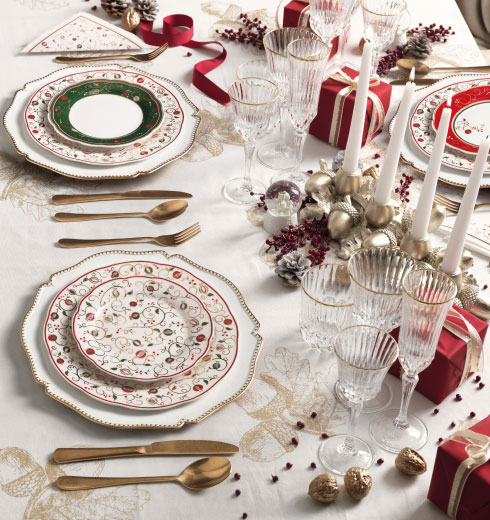 Christmas Table proposal by Brandani – Tempo di Festa collection