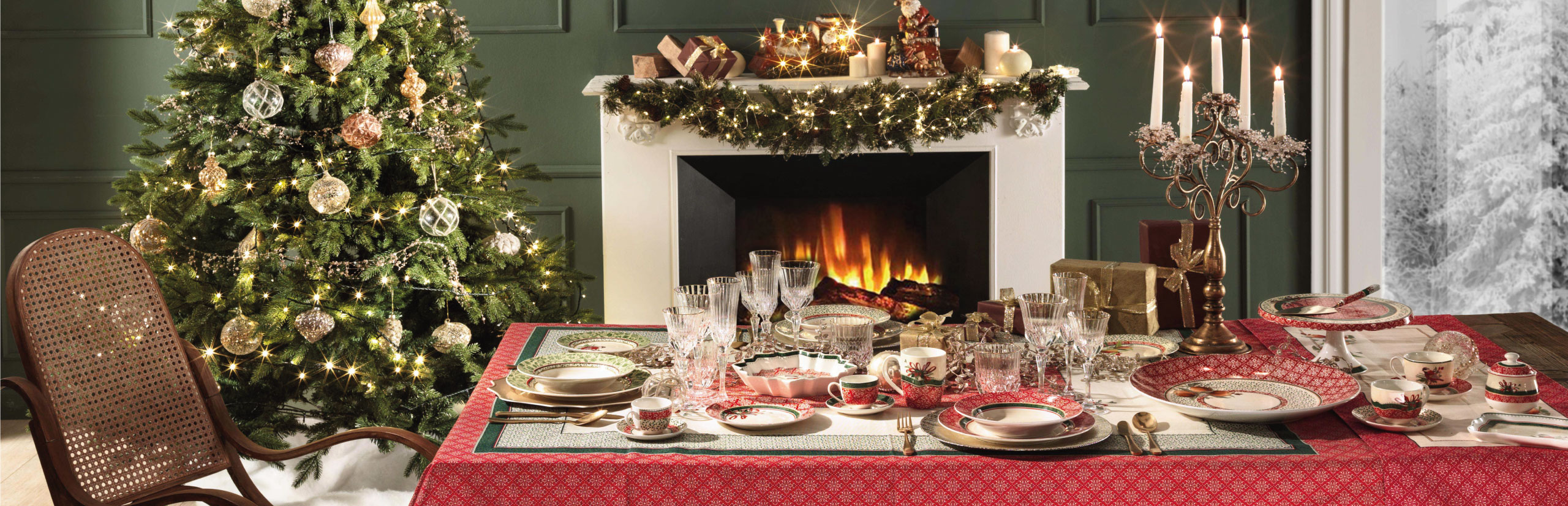 Brandani's Christmas table – Cantico collection