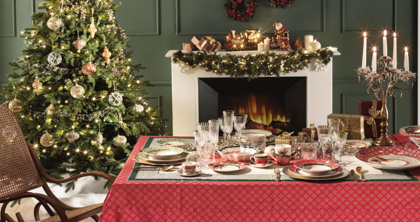 Christmas Table proposal by Brandani – Cantico collection
