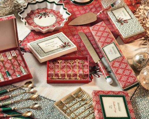 Cucchiaini e forchettine da dessert, pala e coltello per dolce, vassoio - Cantico di Brandani