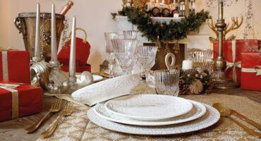 White porcelain plates Delizie by Brandani