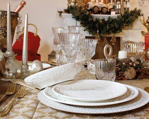 Piatti in porcellana bianca Delizie di Brandani