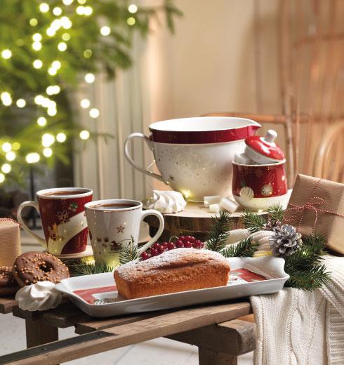 Zuccheriera, tazze mug e bricco Collezione Alleluia di Brandani