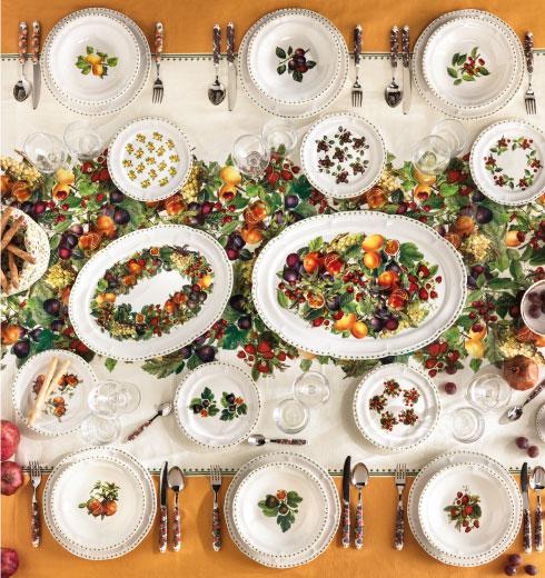 New collection Le Primizie by Brandani - Porcelain dishes service