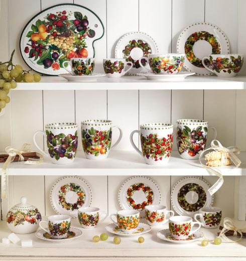 azze, tazzine caffè, mug in porcellana decorate con frutti – Le Primizie Brandani