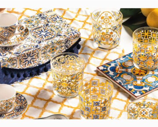 decorated glasses - Medicea Collection by Brandani