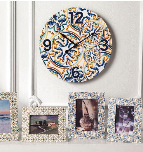 Orologio da parete decorato e Portafoto decorati Medicea di Brandani