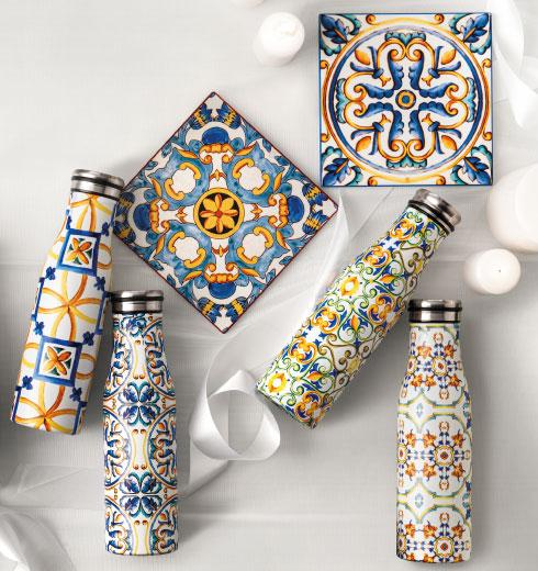 Bottiglie Termiche decorate collezione Medicea Brandani