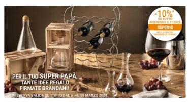 Decanter per vino in vetro Brandani