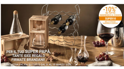 Decanter per vino in vetro Brandani
