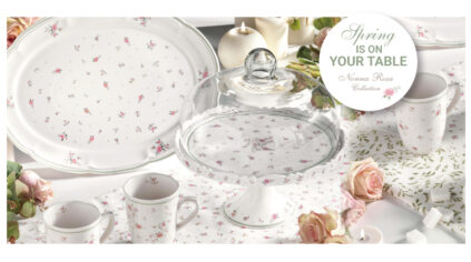 Spring table with Nonna Rosa Collection by Brandani