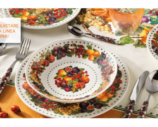 Scopri il servizio piatti ed i vassoi in melamina Le Primizie di Brandani!